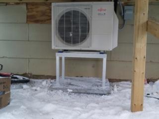 Fujitsu Outdoor Unit Under a Deck